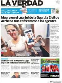 Portada de La Verdad de Murcia (España)
