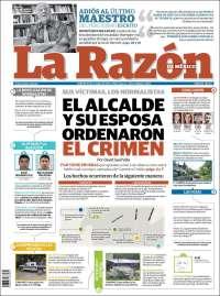 Portada de La Razón (Mexico)