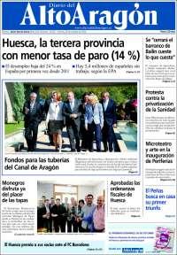 Portada de Diario del AltoAragón (España)