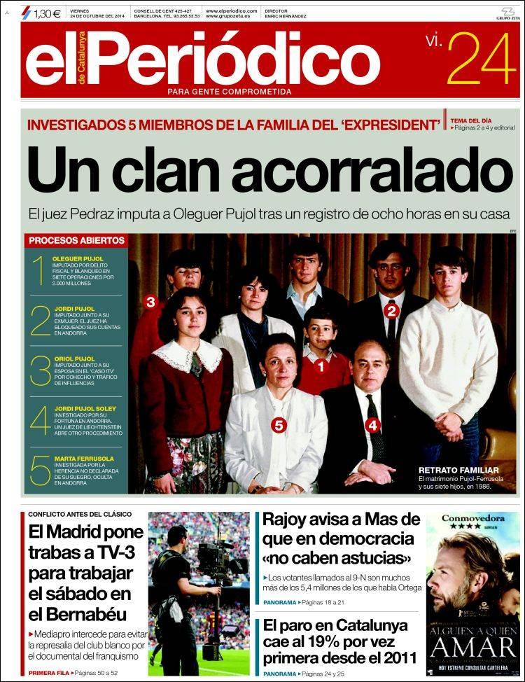 Portada de El Periódico (España)