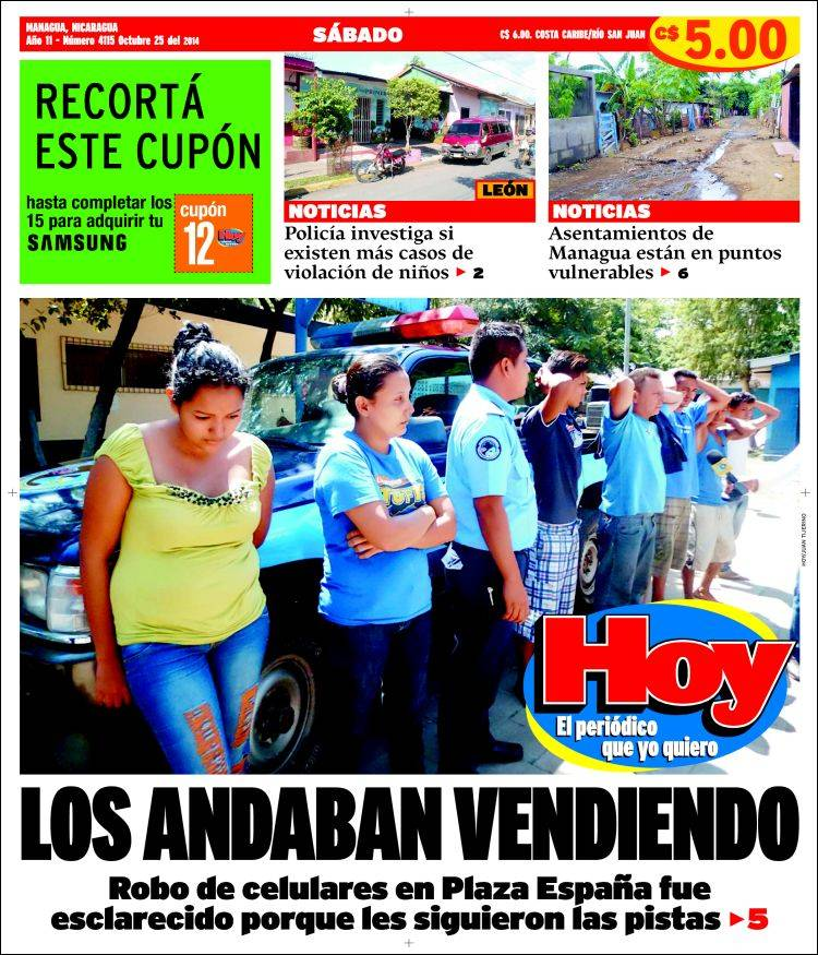 Portada de Hoy (Nicaragua)