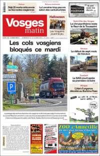 Portada de Vosges Matin (Francia)