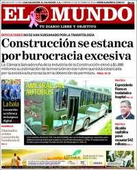 Portada de El Mundo (El Salvador)