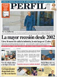 Portada de Diario Perfil (Argentina)