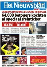 Portada de Het Nieuwsblad (Bélgica)
