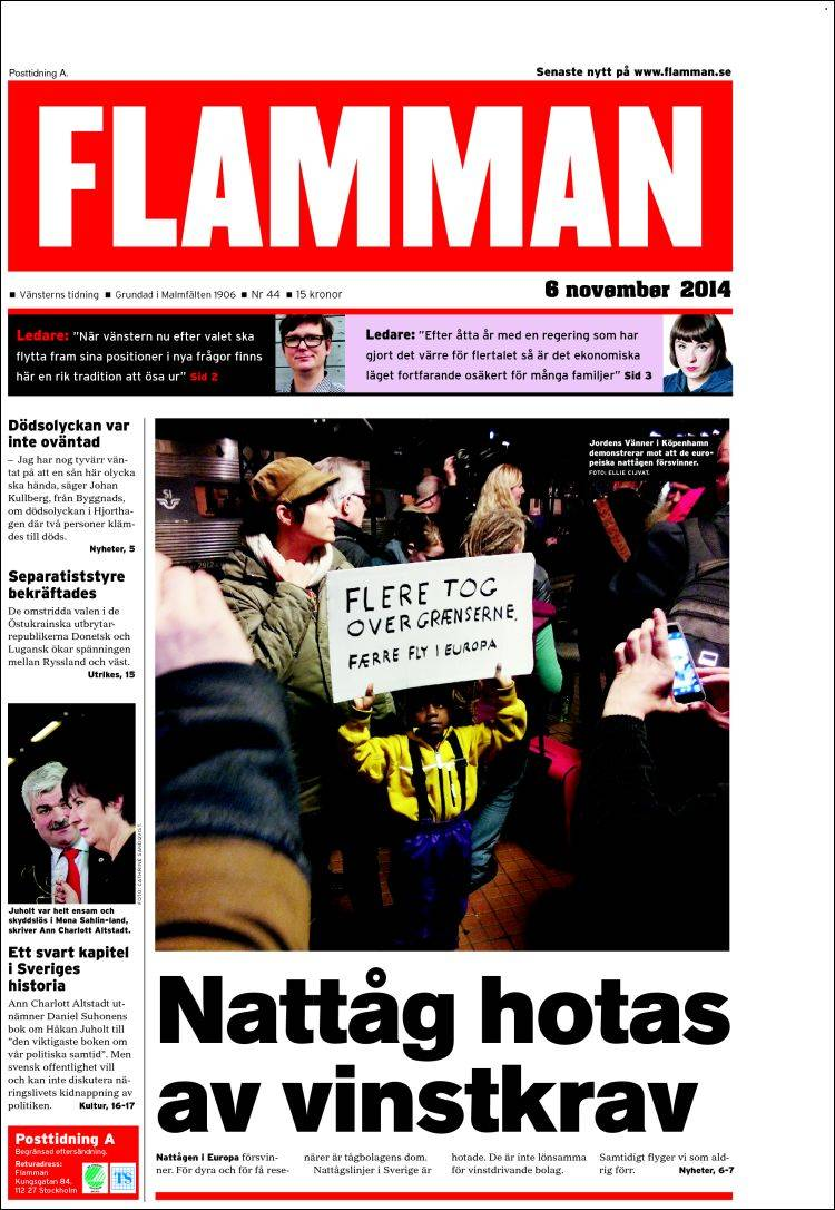Portada de Flamman (Suecia)