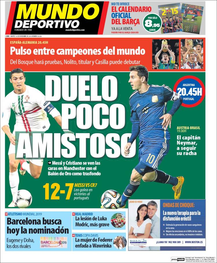¡Periodico Mundo Deportivo!