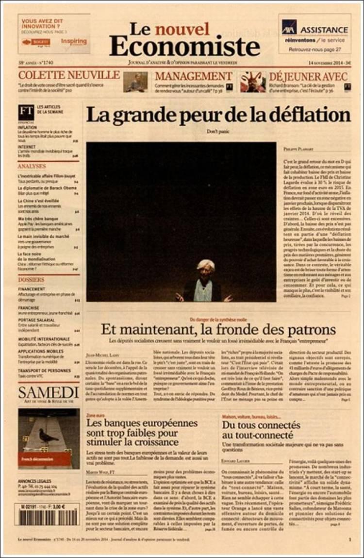 Portada de Le nouvel Economiste (France)