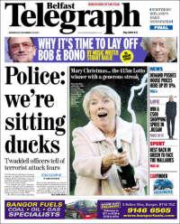 Portada de Belfast Telegraph (United Kingdom)