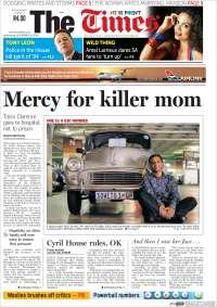 Portada de The Times (Sudáfrica)