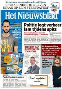 Portada de Het Nieuwsblad (Belgium)