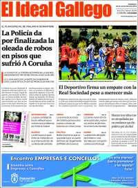 Portada de El Ideal Gallego (Spain)