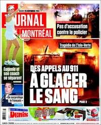 Portada de Le Journal de Montréal (Canadá)