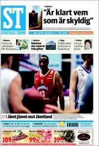 Portada de Sundsvalls Tidning (Suecia)