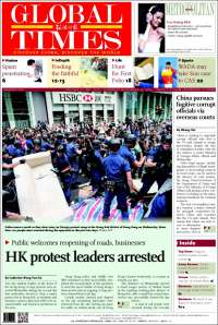 Portada de The Global Times (China)