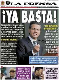 Portada de La Prensa (Mexico)