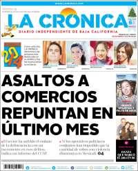 Portada de La Crónica de Baja California (Mexico)