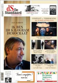 Portada de De Standaard (Belgique)