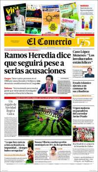 Portada de El Comercio (Peru)