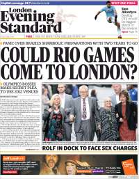 Portada de Evening Standard (Royaume-Uni)