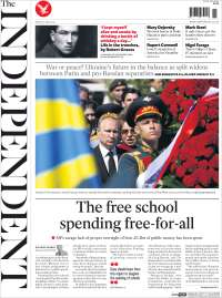 Portada de The Independent (Royaume-Uni)